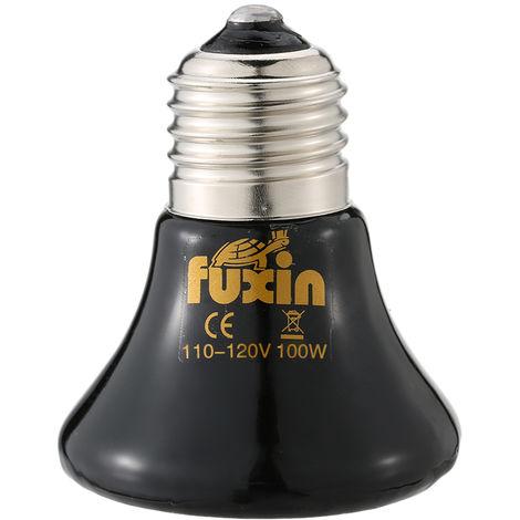 Bombilla 110V 100W para mascotas Luz Calefaccion, E27 infrarrojo de ceramica Emisor calentador de la lampara