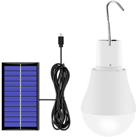 Bombilla 130LM solar accionado solar portable LED Bombilla por Senderismo Pesca Tienda de campana de iluminacion