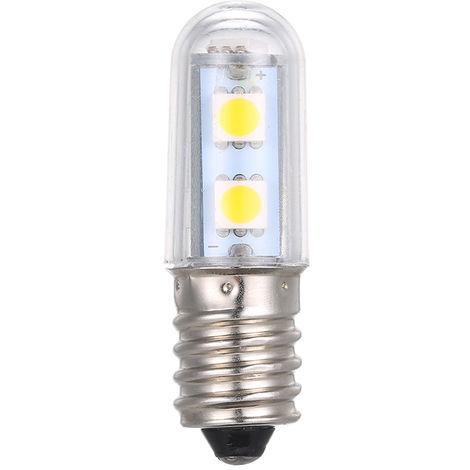 Bombilla 3W AC220-240V 7 LED de luz Frigorifico, Congelador refrigerador de la lampara, E14, blanco calido