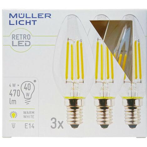 bombilla 4W LED (40W) E14 220-240V 470lm 2700K 10.000h 3x