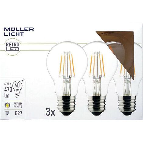 bombilla 4W LED (40W) E27 220-240V 470lm 2700K 10.000h 3x