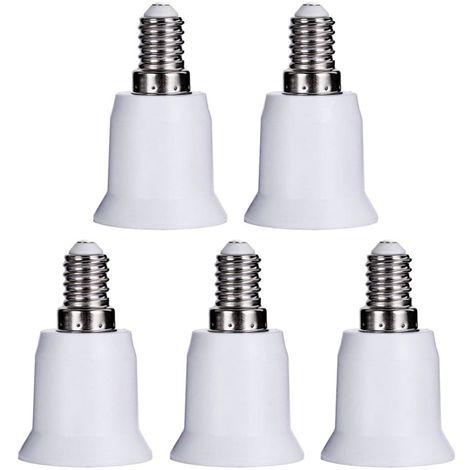 Bombilla 5PCS, E14 a E26 Adaptador E27 adaptador convertidor ligero del zocalo E12 a E26 E27 Socket Medio convertidor
