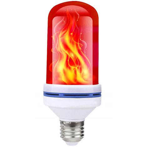 Bombilla AC85-265V 6W, lampara de llama parpadeante, E27, ROJO