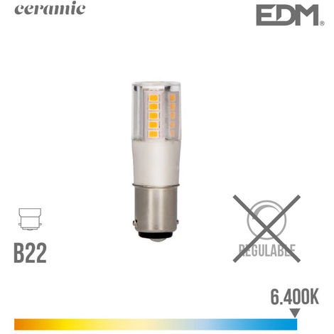 BOMBILLA BAYONETA LED 5.5W 6400K 230V 650LUMENS BASE CERAMICA EDM - NEOFERR