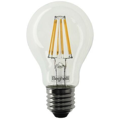 Bombilla Beghelli Caída de Zafiro de LED E27 7W 2700K luz cálida 56402