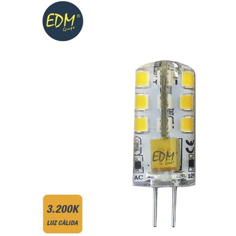 Bombilla Bi-Pin 12V Led 2W 180 Lumens 3.200K Luz Calida Serie Silicona - NEOFERR