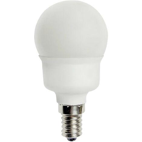 Bombilla CFL Bajo Consumo Esférica E14 11W 495lm 2700K 7hSevenOn