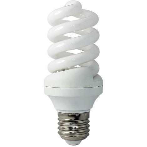 Bombilla CFL Bajo Consumo Espiral E27 9W 400lm 2700K Economiklas