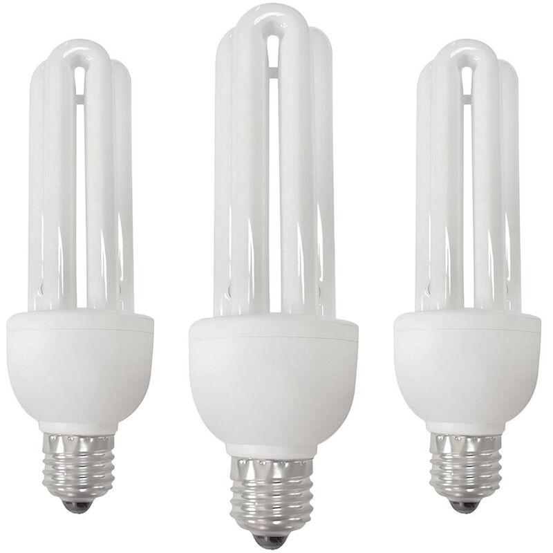 Pack 3 Bombillas CFL Bajo Consumo Mini 3U E27 11W 605lm 2700K 7hSevenOn