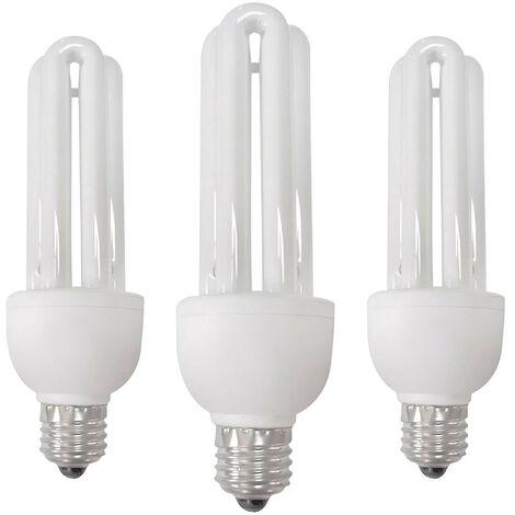 Bombilla CFL Bajo Consumo Mini 3U E27 11W
