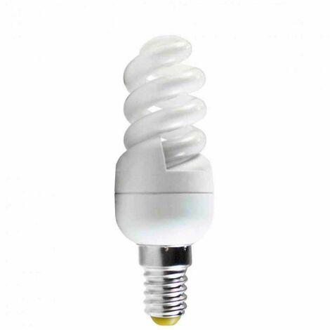 Bombilla CFL Bajo Consumo Mini Espiral E14 11W 660lm 2700K Economiklas