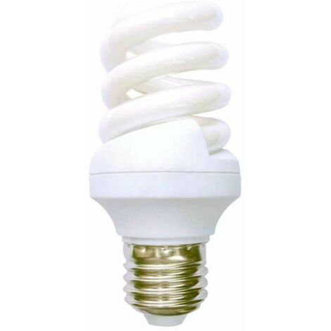 Bombilla CFL Bajo Consumo Mini Espiral E27 11W 660lm 2700K Economiklas