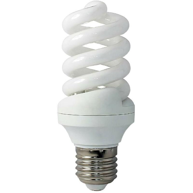 Bombilla CFL Bajo Consumo Mini Espiral E27 9W 495lm 2700K Economiklas