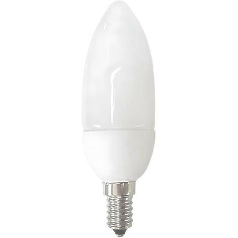 Bombilla CFL Bajo Consumo Vela E14 9W 490lm 6400K Dayron