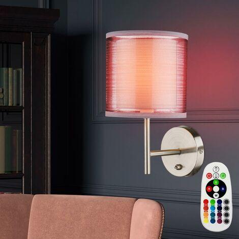 bombilla comedor lámpara de pared gris Conmutador de la luz en el sistema incluyendo lámparas LED RGB