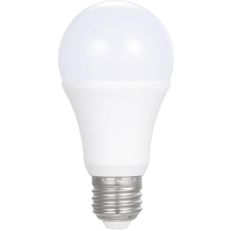 Bombilla con sensor de luz LED, blanco frio, E26 / E27,700LM, AC85-265V 7W