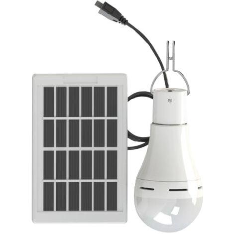 Bombilla de energia con energia solar, 3 niveles ajustables, DC5-6V, 7W, 20 LED