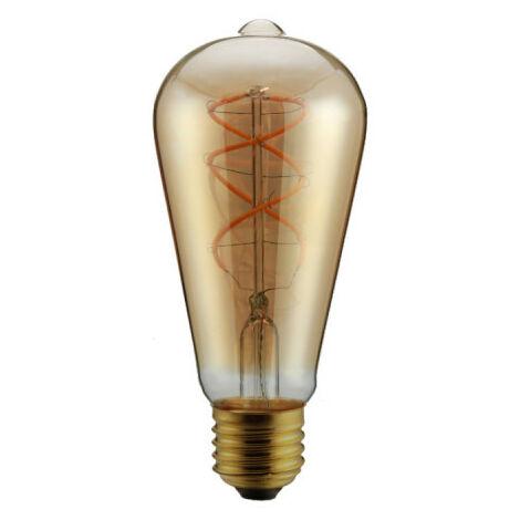 Bombilla de filamento curvo LED ámbar pera XXCELL - E27 - 5W