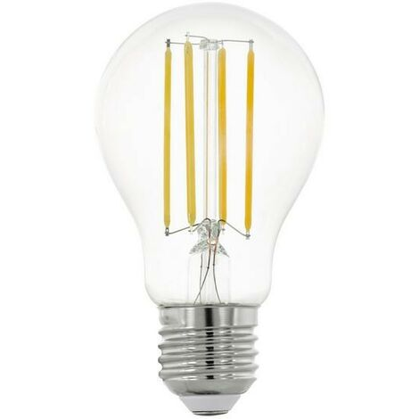 Bombilla de gota LED-HV transparente luz blanca cálida 2700 K ataque E27 12W | Blanco