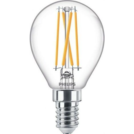 Bombilla de led de filamento esférica 3,2W E14 CRI90 P45 CL PHILIPS 77070900