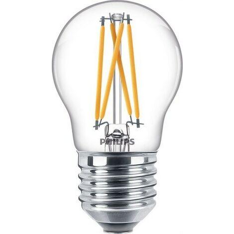 Bombilla de led de filamento esférica 3,5W E27 CRI90 P45 CL PHILIPS 64636300