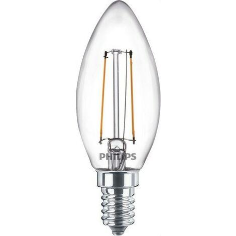 Bombilla de led de filamento vela 2,2W E14 840 B35 CL PHILIPS 64819000