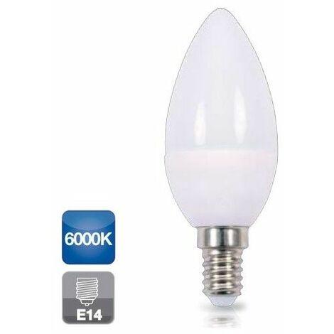 Bombilla de led de vela E14 5W luz fría 6000K 470 lm GSC 2002345
