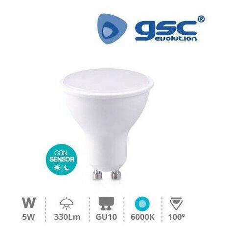 Bombilla de led dicroica crepuscular 5W GU10 6000K GSC 002005156