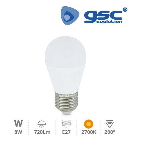 Bombilla de led esferica 8W E27 2700K GSC 200690003