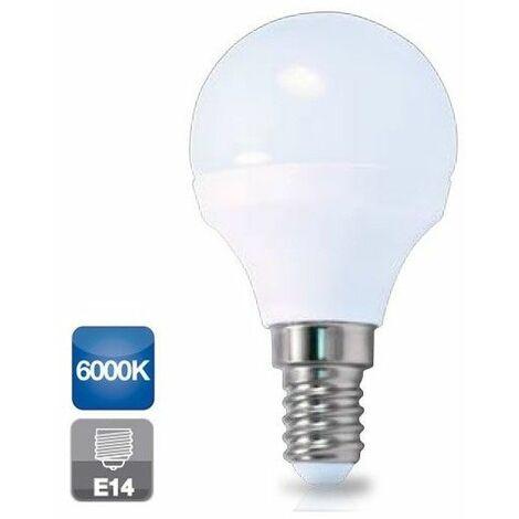 Bombilla de led esférica E14 4W luz fría 6000K 320 lm GSC 2001563