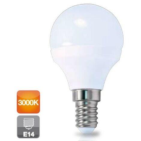 Bombilla de led esférica E14 6W luz cálida 3000K 560 lm GSC 2002364