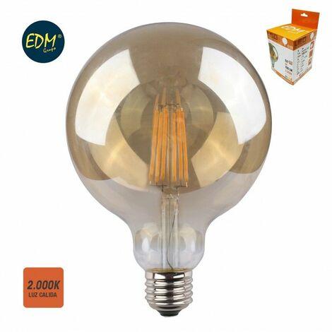 Bombilla de led VINTAGE globo 8W E27 700lm 2.000k EDM 98628