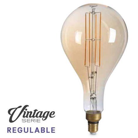 Bombilla de led Vintage pera XL 8W E27 1800K regulable GSC 200605000