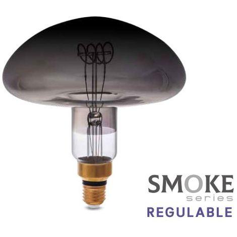 Bombilla de led Vintage Smoke platillo XL 8W E27 2700K regulable GSC 200605004