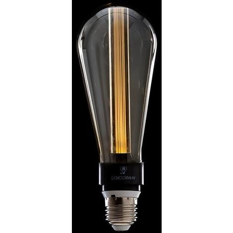 Bombilla de LEDs Art Deco 3D St64 5W E27 Vidrio Gris [AM-AL101] | Blanco Cálido (AM-AL101)