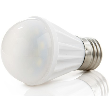 Bombilla de LEDs Esférica Cerámica E27 7W 550Lm 30.000H