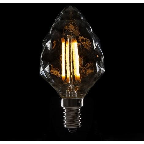 Bombilla de LEDs Filamento Vintage C55 E14 4W 400Lm [WO-LF-C55DI-E14-4W-WW] | Blanco Cálido (WO-LF-C55DI-E14-4W-WW)