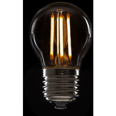 Bombilla de LEDs Filamento Vintage G45 E27 4W 400Lm [WO-LF-G45-E27-4W-WW] | Blanco Cálido (WO-LF-G45-E27-4W-WW)