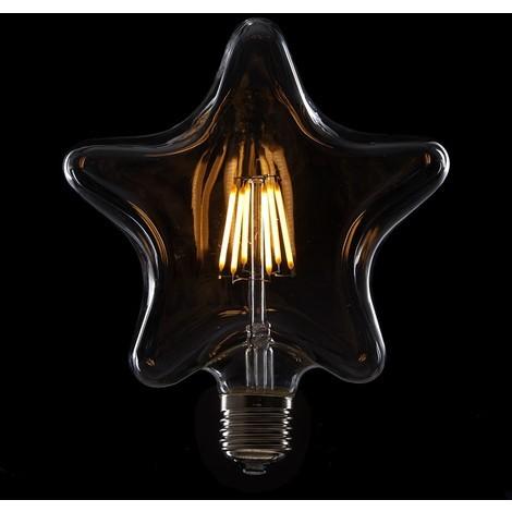 Bombilla de LEDs Filamento Vintage Star E27 6W 600Lm [WO-LF-STAR-E27-6W-WW]   Blanco Cálido (WO-LF-STAR-E27-6W-WW)
