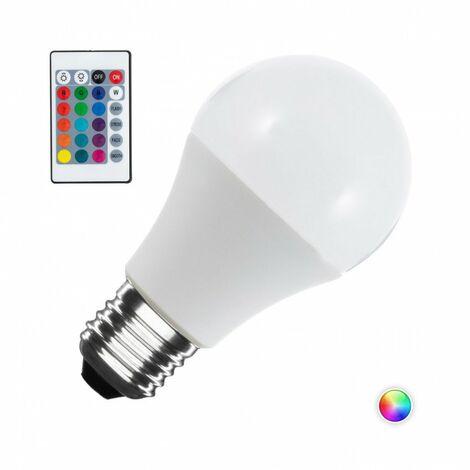Bombilla de LEDs RGB 10W E27 Esférica Mando a Distancia | RGB (CA-ESF-10W-E27-RGB)
