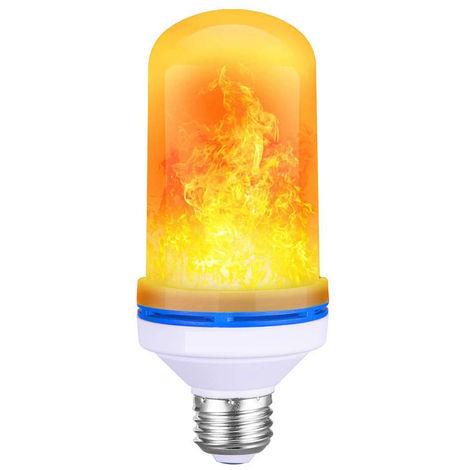 Bombilla de luz de fuego con efecto de llama, lampara de llama parpadeante, AC85-265V 6W, E26