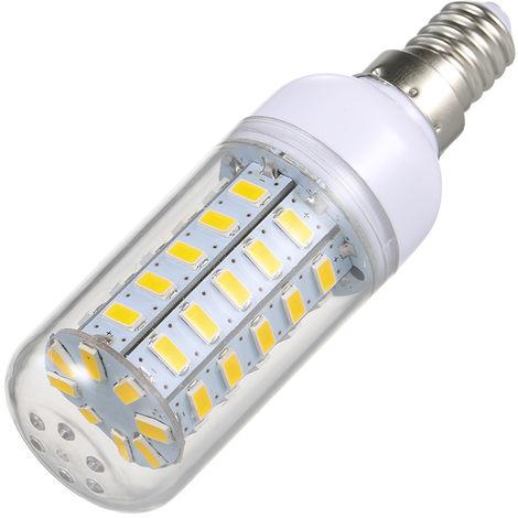 Bombilla de luz de ma¨ªz E14, l¨¢mpara LED SMD5730, blanco c¨¢lido, 8W