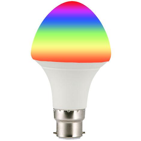 Bombilla de luz inteligente Wi-Fi, control remoto inalambrico, 7W, B22, Paraguas, blanca