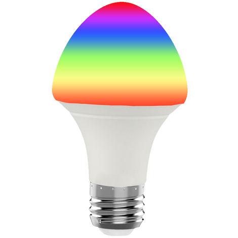 Bombilla de luz inteligente Wi-Fi, control remoto inalambrico, 7W, E26, paraguas, blanco