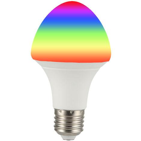 Bombilla de luz inteligente Wi-Fi, control remoto inalambrico, 7W, E27, Paraguas, blanca