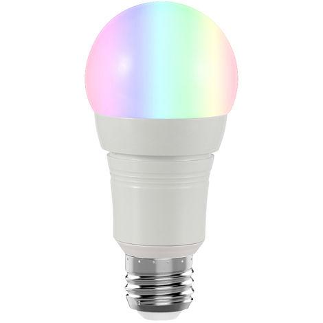 Bombilla de luz inteligente Wi-Fi, control remoto inalambrico Soporte de Control de APP, 7W, E26, redonda, blanca