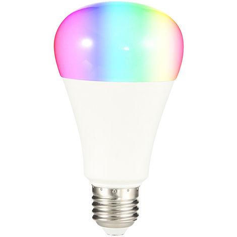 Bombilla de luz inteligente Wi-Fi, control remoto inalambrico Soporte de Control de APP, 7W, E27, oval, blanca