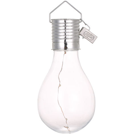 Bombilla de luz solar, Lampara colgante LED,color, carcasa transparente