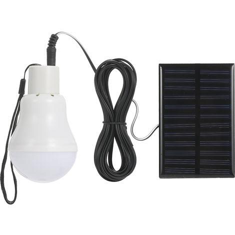 Bombilla de luz solar LED, para tienda de escalada al aire libre,Con cordon