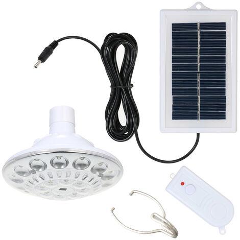 Bombilla de luz solar multifuncional de 1W 22 LED, con encendido / apagado automatico del control remoto